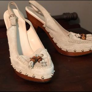 Gucci Shoes w/ Wooden Heels, Studs, & Tassels 8.5